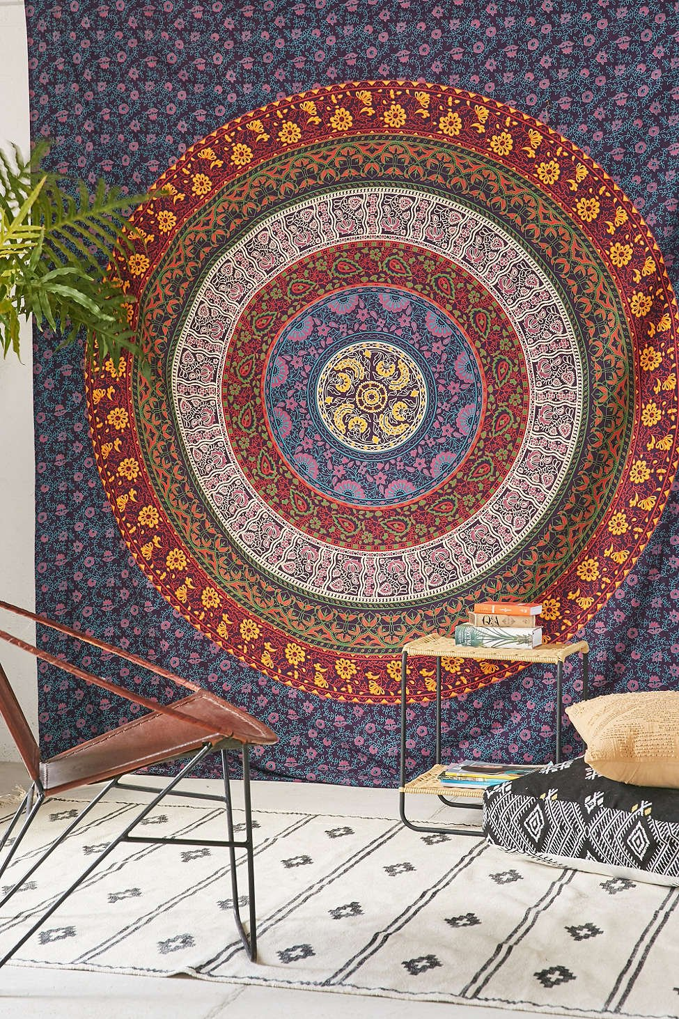 4Rissa Indian Mandala Plum /& Bow Medallion Tapestry Bedspread Boho Bohemian Chic Bedding Wall Hanging Decor