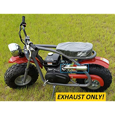 ARSPORT Exhaust with Muffler for: Coleman BT200x Mini Bike.: Garden & Outdoor