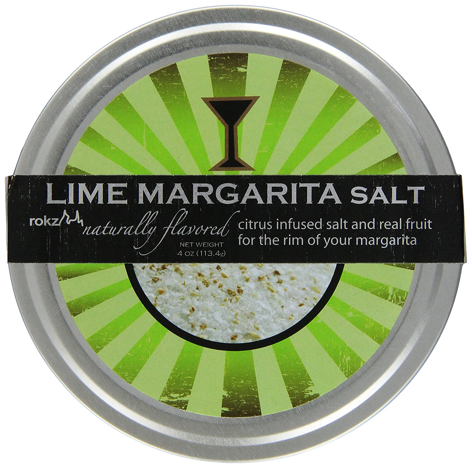 Rokz Design Group Infused Margarita Salt, Lime, 4 Ounce