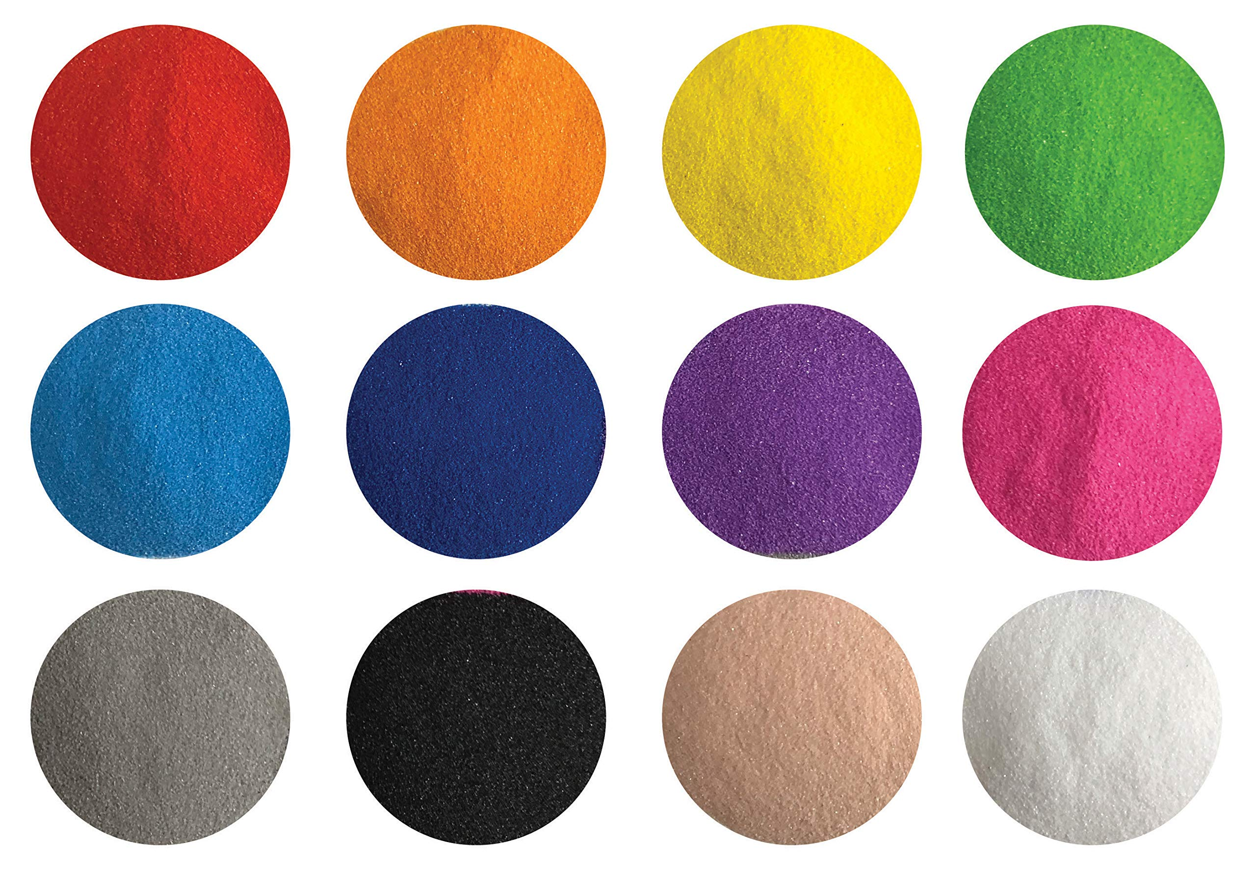 CreativeSandStore Fine Sand, Colored Sand for Sand Art & Crafts, Decorative Sand for Terrariums & Sand Paintings (12 Colors 2.64 LBS) by CreativeSandStore
