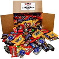 Chocolate Candy 150 pieces (5.6 lbs) Variety Pack Hersheys Nestles Reese's Snickers York Peppermint Almond Joy Kit Kat, M&Ms Peanut and Milk Chocolate, 100 Grand Bars, Milky Way