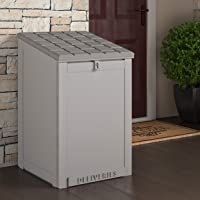Cosco Outdoor Living 88333GCG1E, Large Lockable Package Delivery and Storage Box, 6.3 Cubic feet, Light Gray BoxGuard