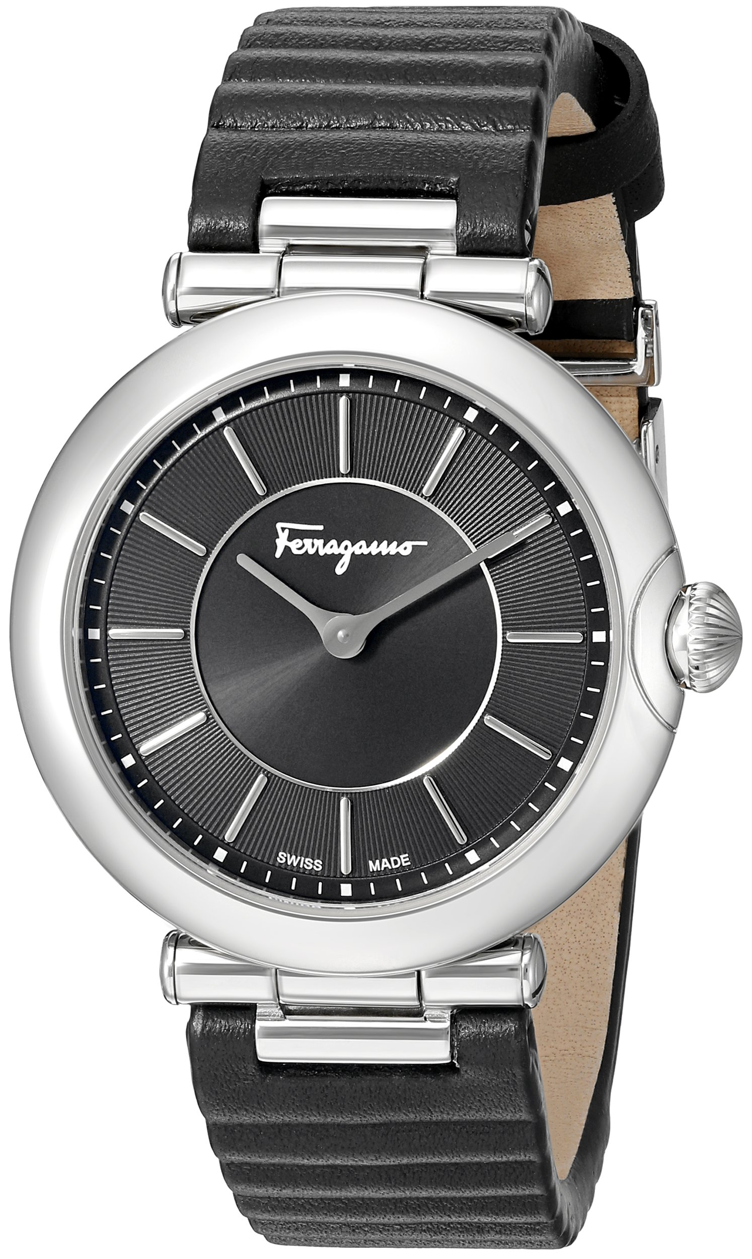 Salvatore Ferragamo Women's FIN010015 Style Analog Display Quartz Black Watch by Salvatore Ferragamo