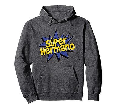 Unisex Super Hermano - Spanish Brother Comic Book Super Hero Hoodie 2XL Dark Heather