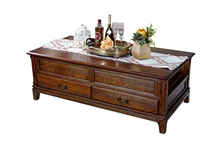 Amazon.com: KELINSHENG Elegant Furniture Dark, Brown Solid ...