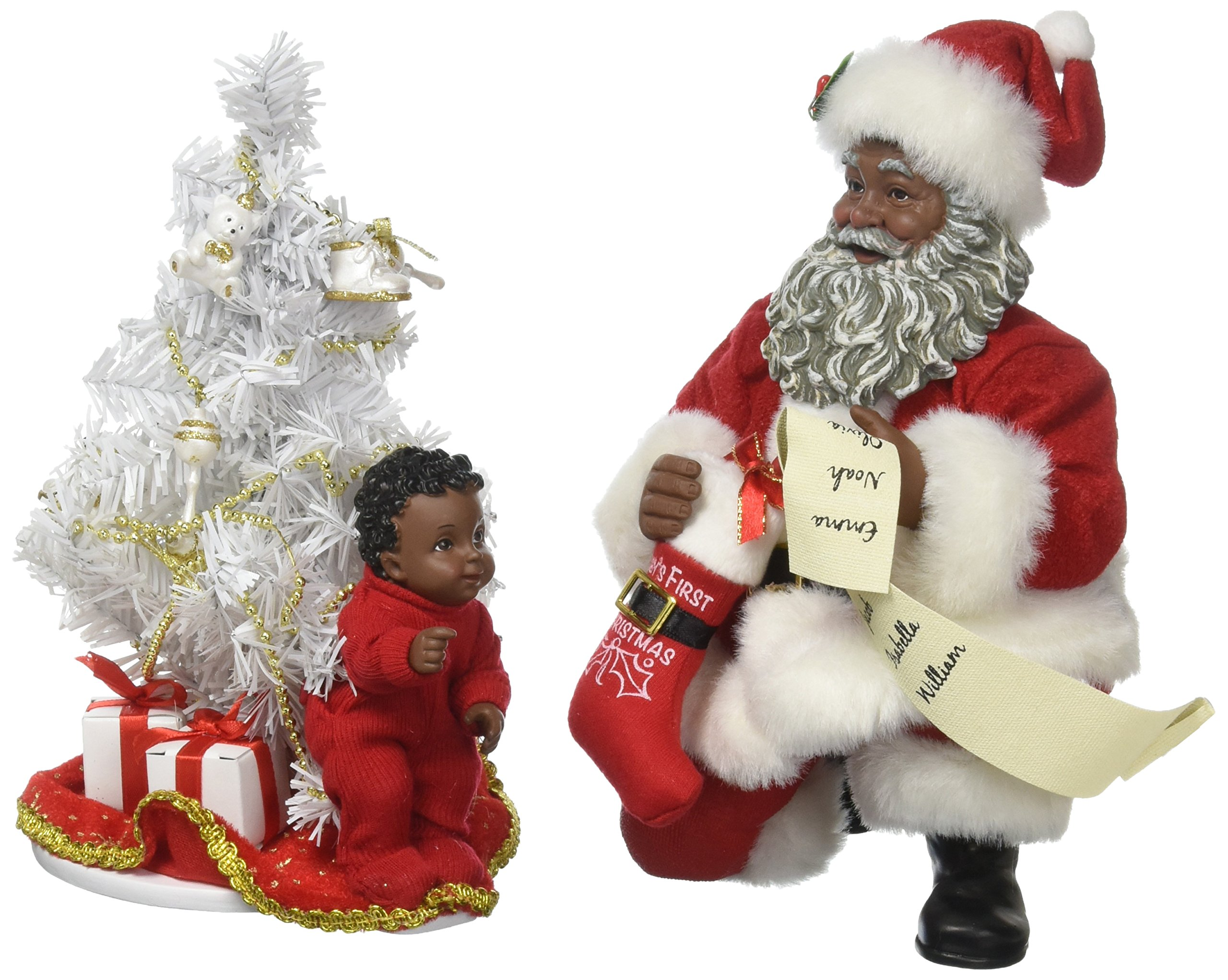 """Department 56 Possible Dreams Santa Claus """"Baby's First Tree AA"""" Clothtique Christmas Figurine"""