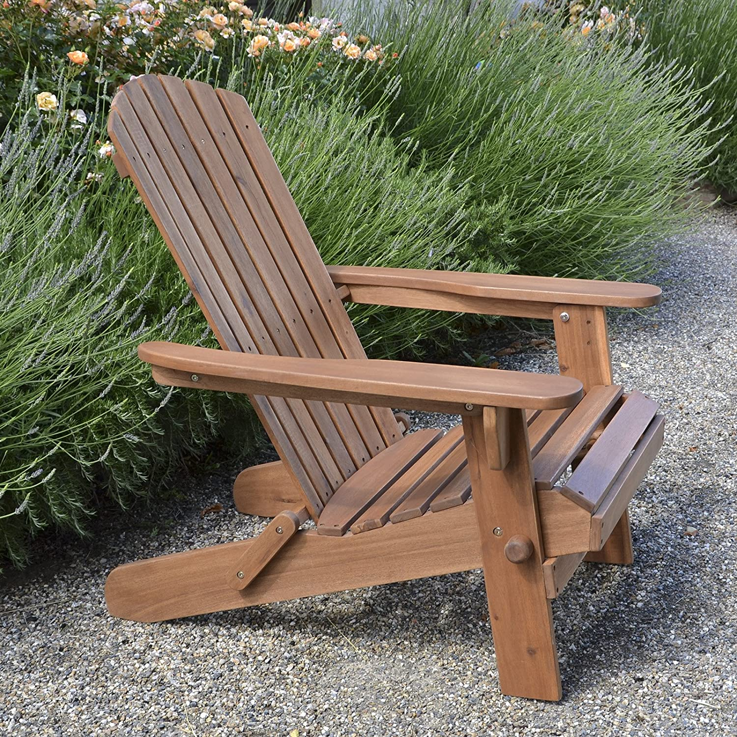 Plant Theatre Adirondack Folding Hardwood Chair : Garden & Outdoor