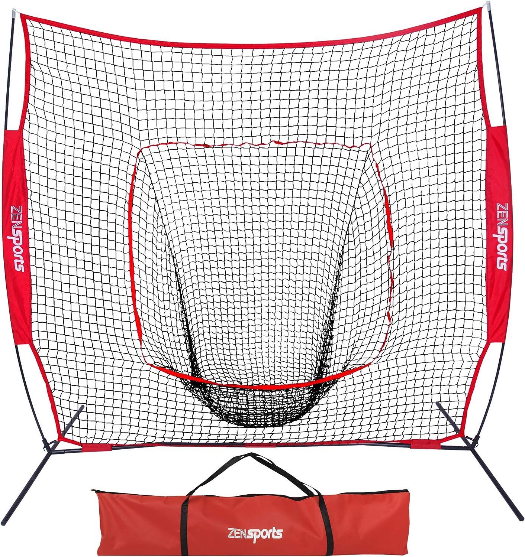 7/'×7/' BASEBALL SOFTBALL Practice Hitting Training Batting Net Frame Strike Zone