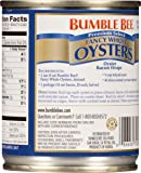 BUMBLE BEE Premium Select Fancy Whole Oysters, 8