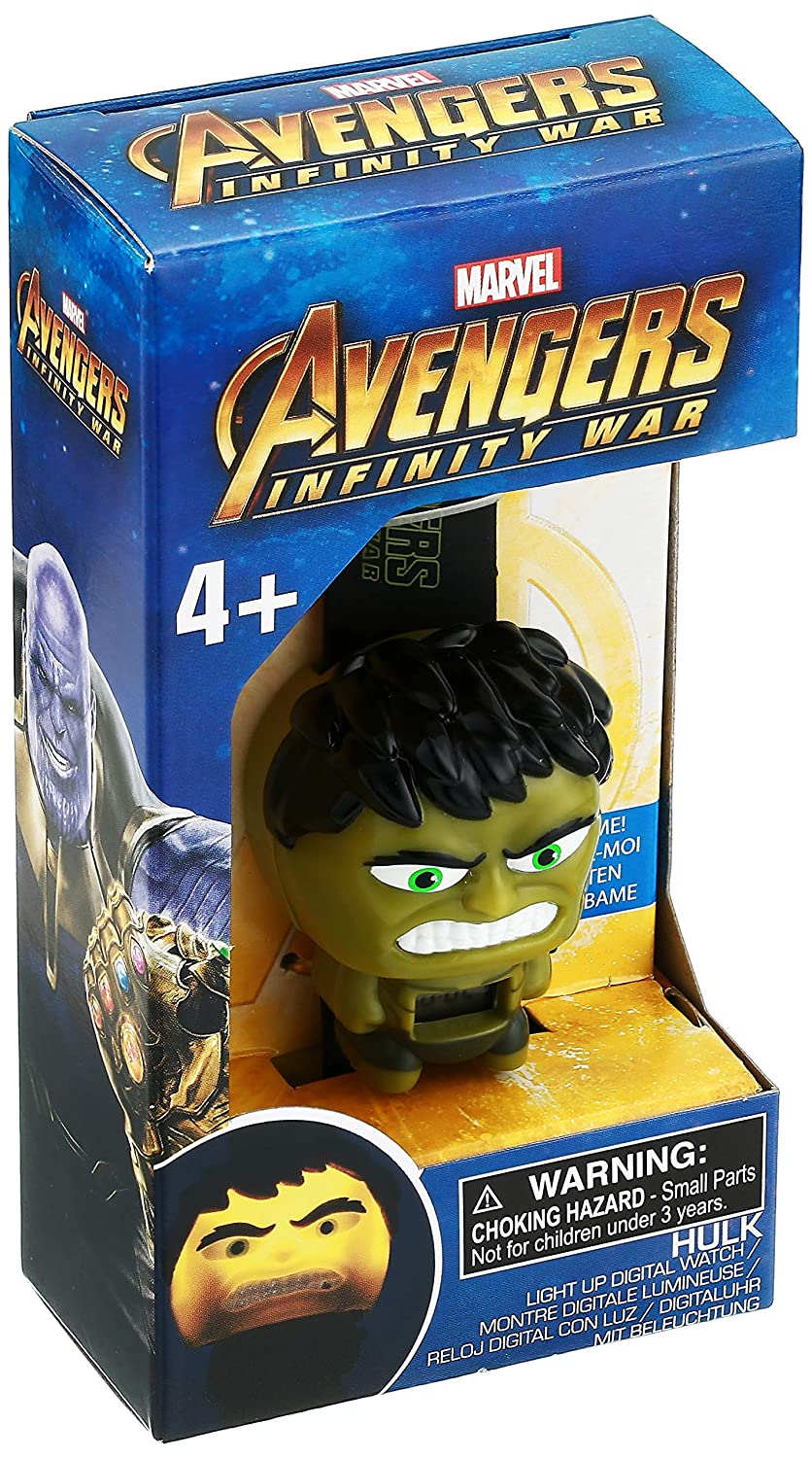 Amazon.com: BulbBotz Boys Marvel Avengers Hulk Digital Plastic Watch, Color: Green (Model: 2021845): Watches
