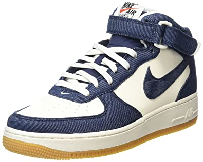 nike mens air force 1 metà scarpa ossidiana / vela basket