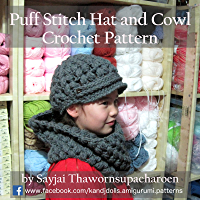 Puff Stitch Hat and Cowl Crochet Pattern (English Edition)