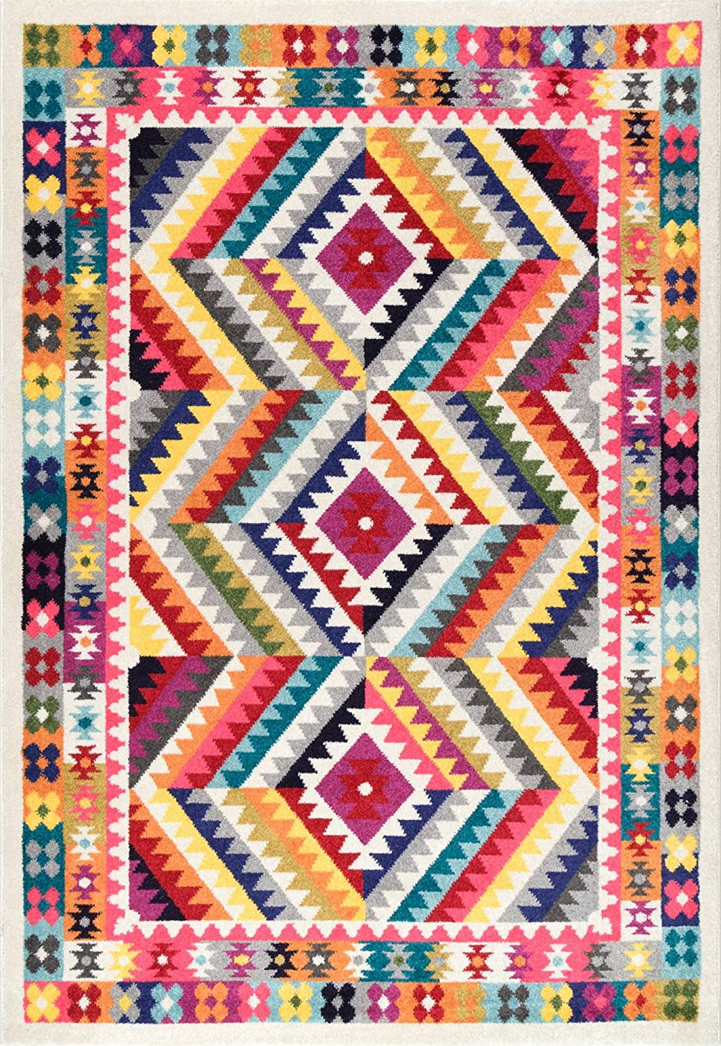 Colorful patterned rug.