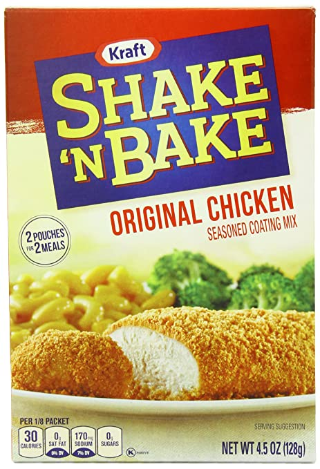 Kraft Shake N Bake Seasoned Coating Mix Box, Original Chicken, 4.5 Ounce