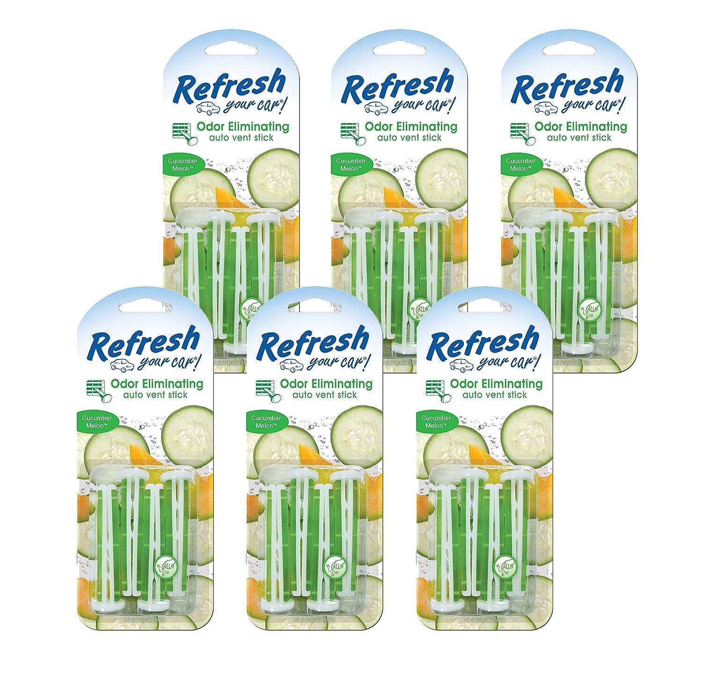 86584 Auto Vent Stick 6-Pack 4 Per Cucumber Melon Refresh Your Car