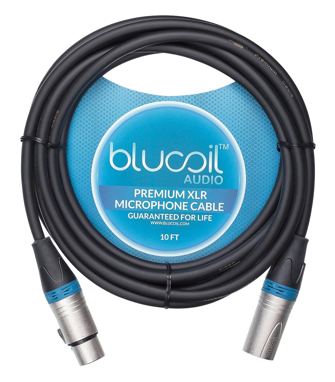 Amazon.com: Blucoil Audio Balanced XLR Cable - Premium Series 3-Pin ...