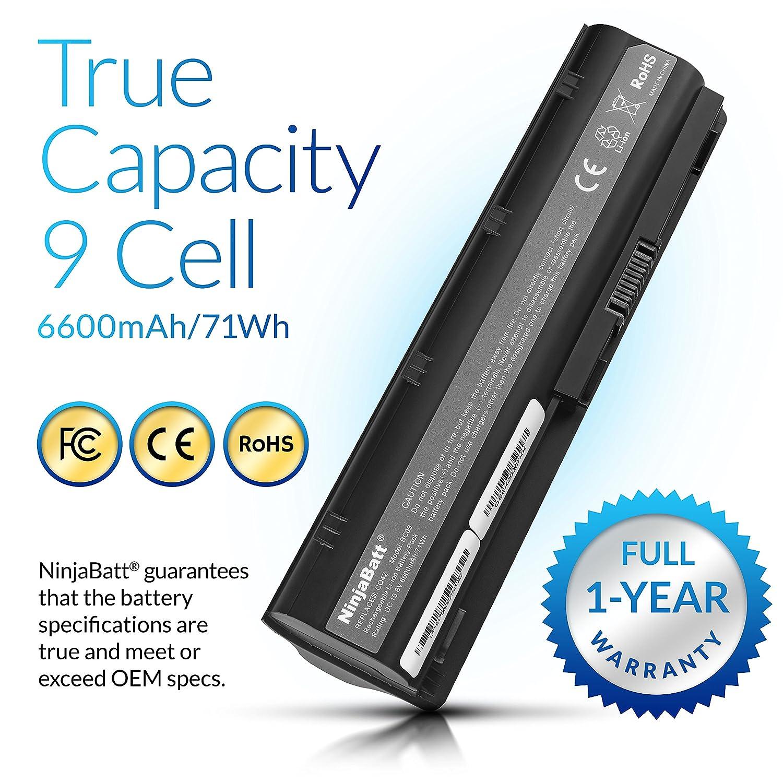 Ninjabatt 9 Celdas Batería para HP 593553-001 593554-001 MU06 MU09 636631-001G62 593550-001 593562-001 584037-001 Pavilion G7 G6 G4 DM4 CQ42 HSTNN-LB0W ...