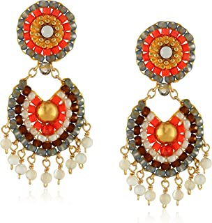 product image for Miguel Ases Mother-of-Pearl Tangerine Drop Earrings