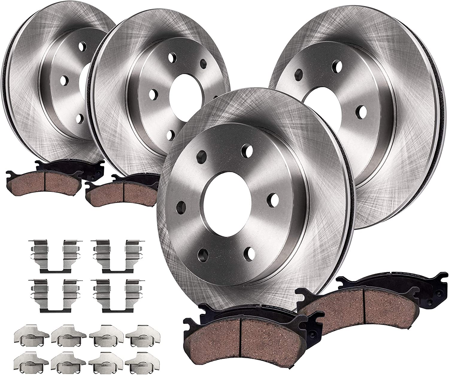 OE Replacement 2007 2008 2009 2010 2011 Chevy Tahoe Rotors Metallic Pads R