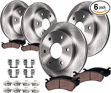 Rear Cross Drilled Brake Rotors Ceramic Pads Fit 2007-2016 GMC Acadia