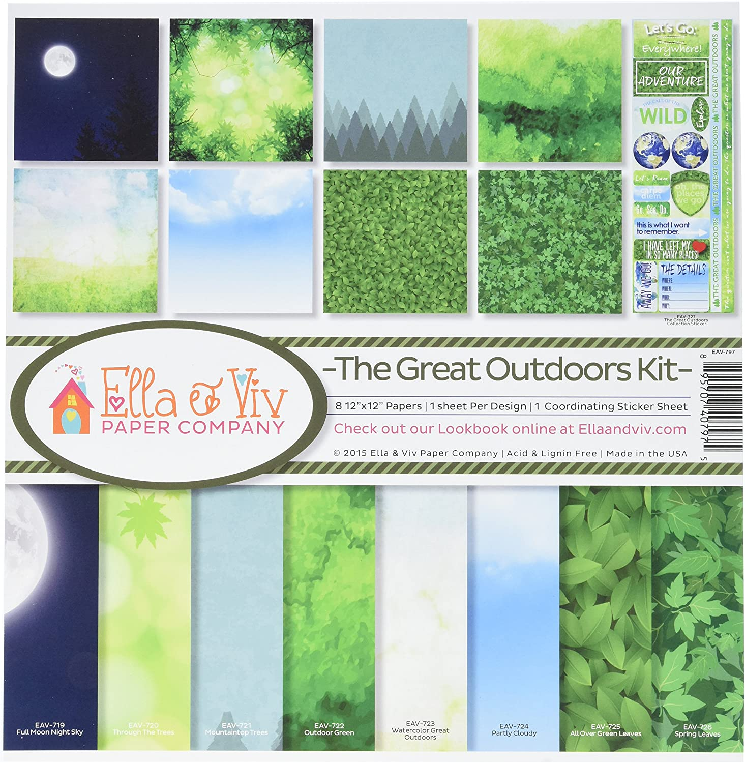 Reminisce EAV-797 The Great Outdoors Collection Kit