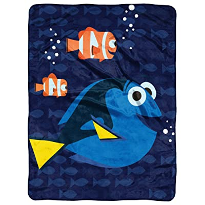 "Disney-Pixar Finding Dory, ""Bubbles in Water"" Micro Raschel Throw Blanket, 46"" x 60"", Multi Color, 1 Count: Home & Kitchen"