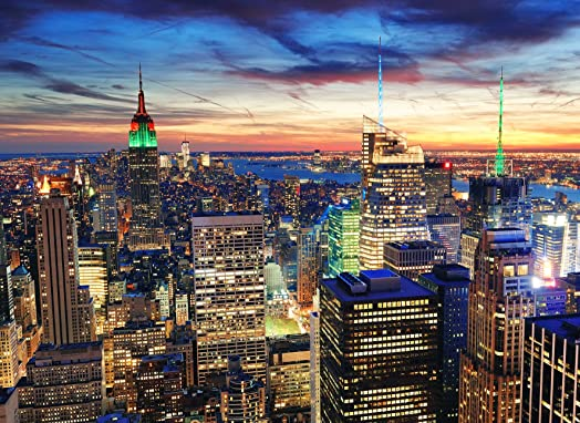Photo Wall Mural Self Adhesive Paper NEW YORK At DUSK (07) Manhattan   Part 64