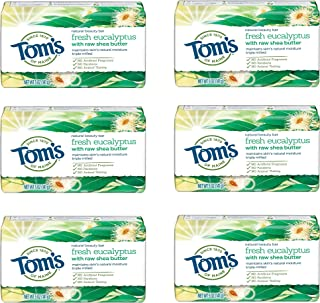 product image for Tom's of Maine Natural Beauty Bar, Bar Soap, Natural Soap, Fresh, 6-Pack Eucalyptus 30 Ounce