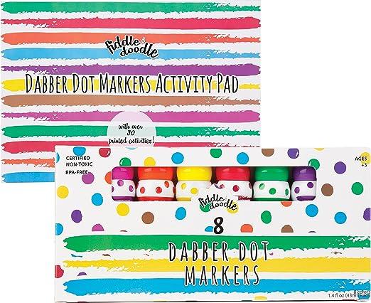 Amazon.com: Dabber Dot Markers (8 Vibrant Colors) – Promotes ...