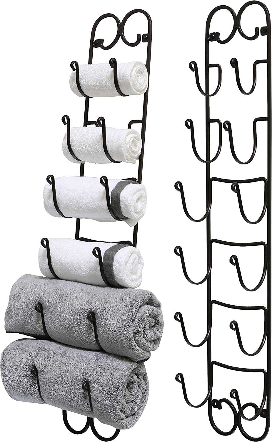 DecoBros Bronze Wall Mounted Towel Rack for Rolled Towels