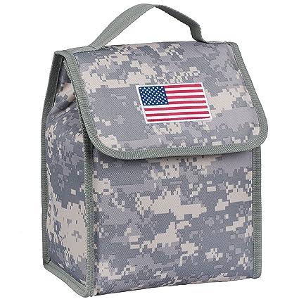 e286842b604c Amazon.com: USA Flag Lunch Bag - Digital Camo: Kitchen & Dining