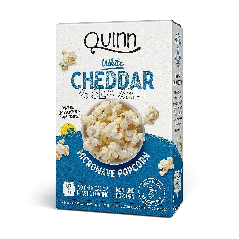 Quinn Snacks - Microondas palomitas de maíz Cheddar blanco y sal ...