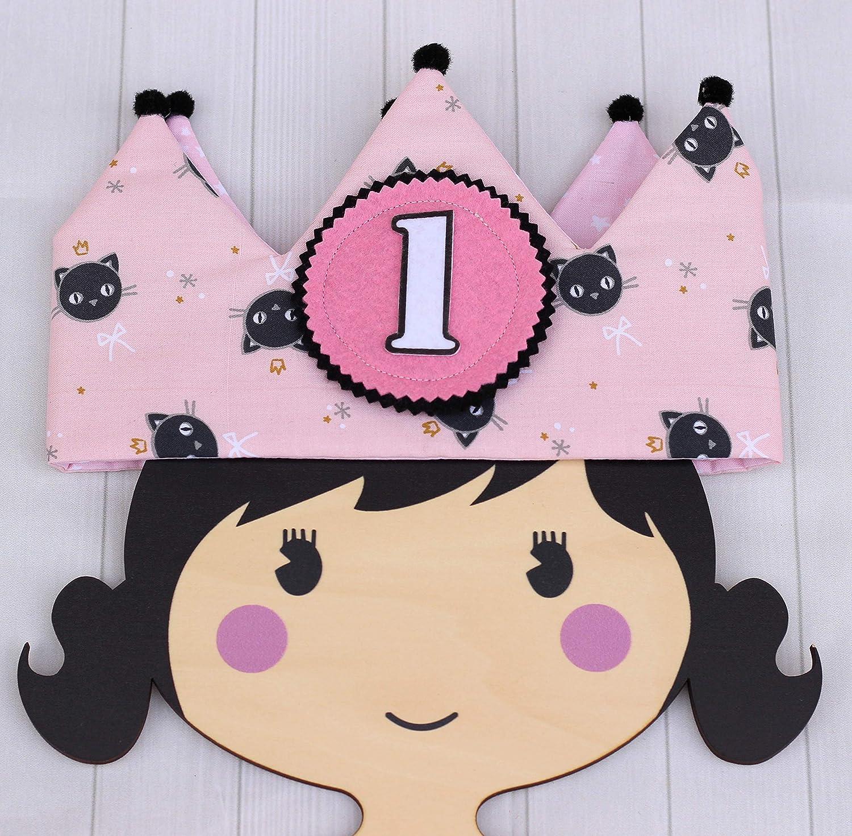 Corona de tela para cumpleaños infantil bebés y niñas ...