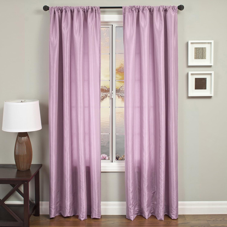 Softline Home Fashions NETHlav120RP Bella Single Curtain Panel, Lavender