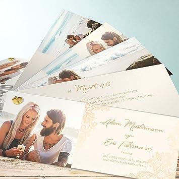Hochzeitseinladungen Vintage Style Anmut 200 Karten Kartenfacher