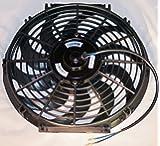 God7treasure 薄型 ラジエター 用 電動ファン 吸風 プル タイプ 14インチ 12V 80W