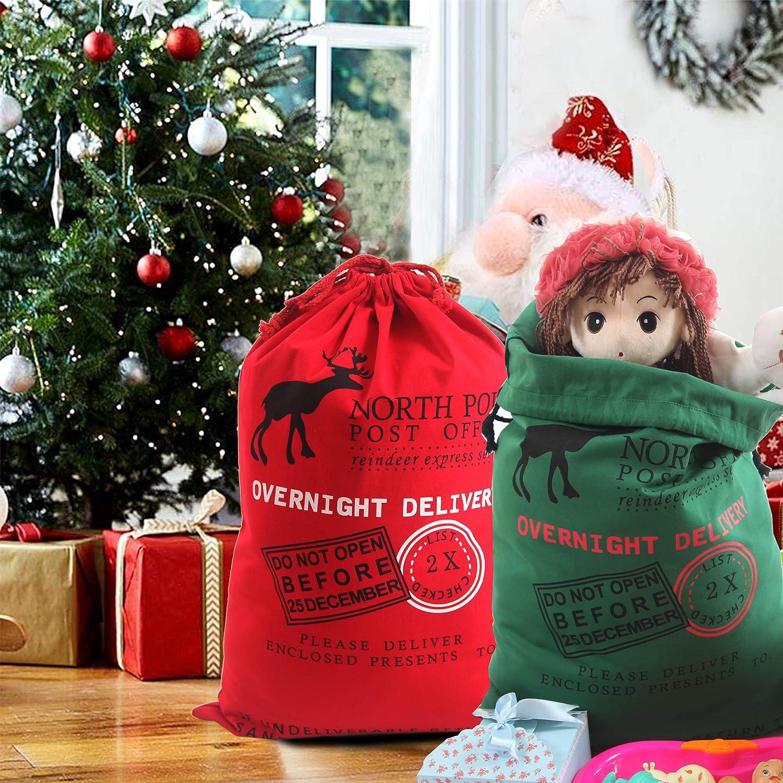 Amazon MissShorthair Santa Sack Personalized Cotton Christmas