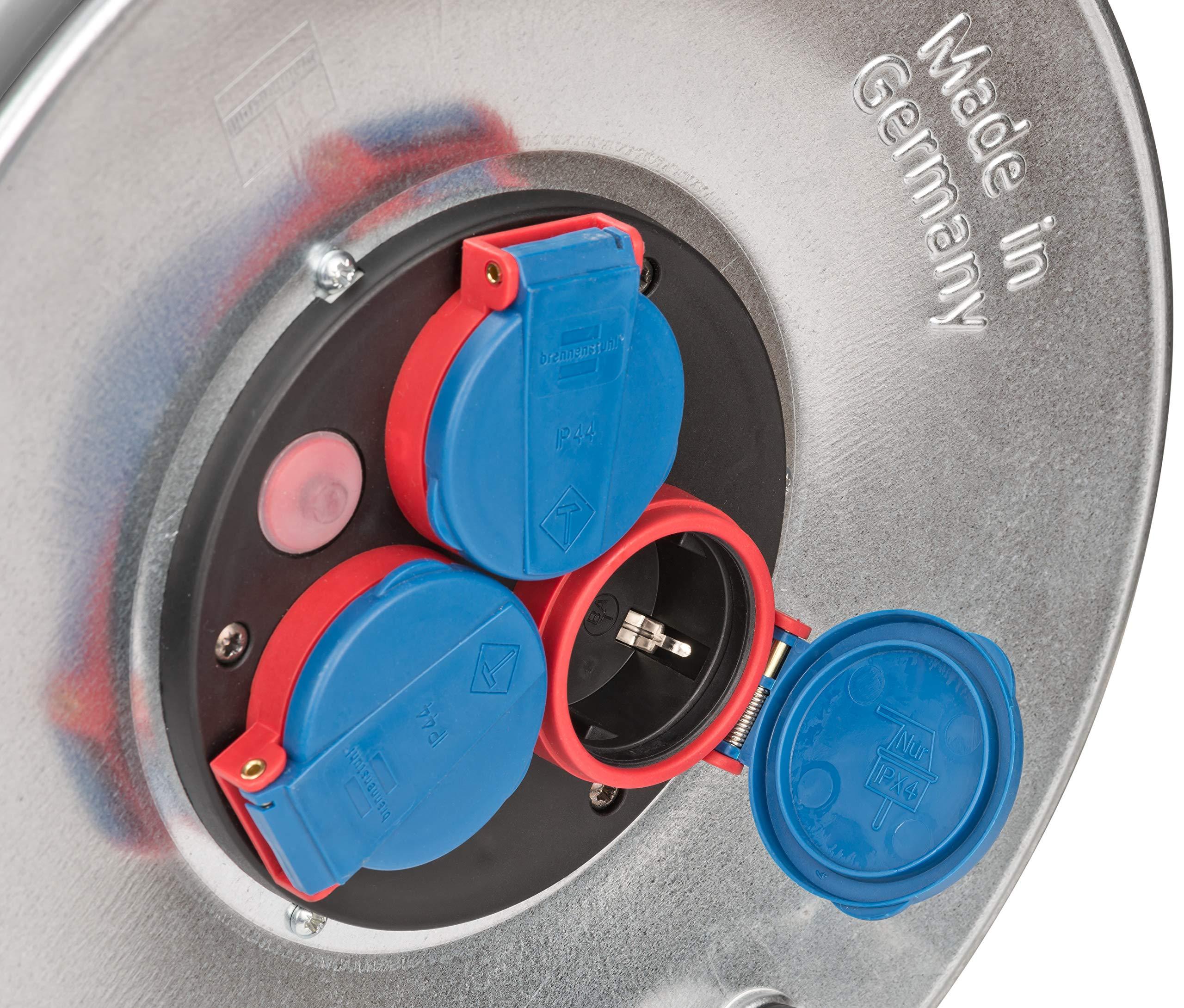 Bases m/últiples Rojo s Plata base m/últiple s 25m Negro 25 m, 3 salidas AC, IP44, Negro, Azul, Rojo, Plata, Negro, 1 pieza Azul Brennenstuhl 25m H07RN-F 3G2,5 3AC outlet