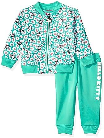 9ffb28d02 Amazon.com: Hello Kitty Baby Girls' Scuba Knit Bomber Jacket Pant Set:  Clothing