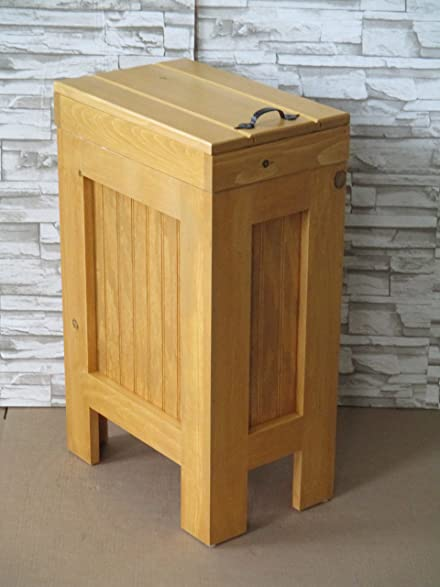 Incroyable Wood Wooden Trash Bin Kitchen Garbage Can 13 Gallon , Recycle Bin, Dog Food  Storage