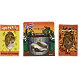 Edible Insects Sampler Pack of 3- Crickets- Bacon & Cheese, Larvets- BBQ & Chocolate Dipped Insects