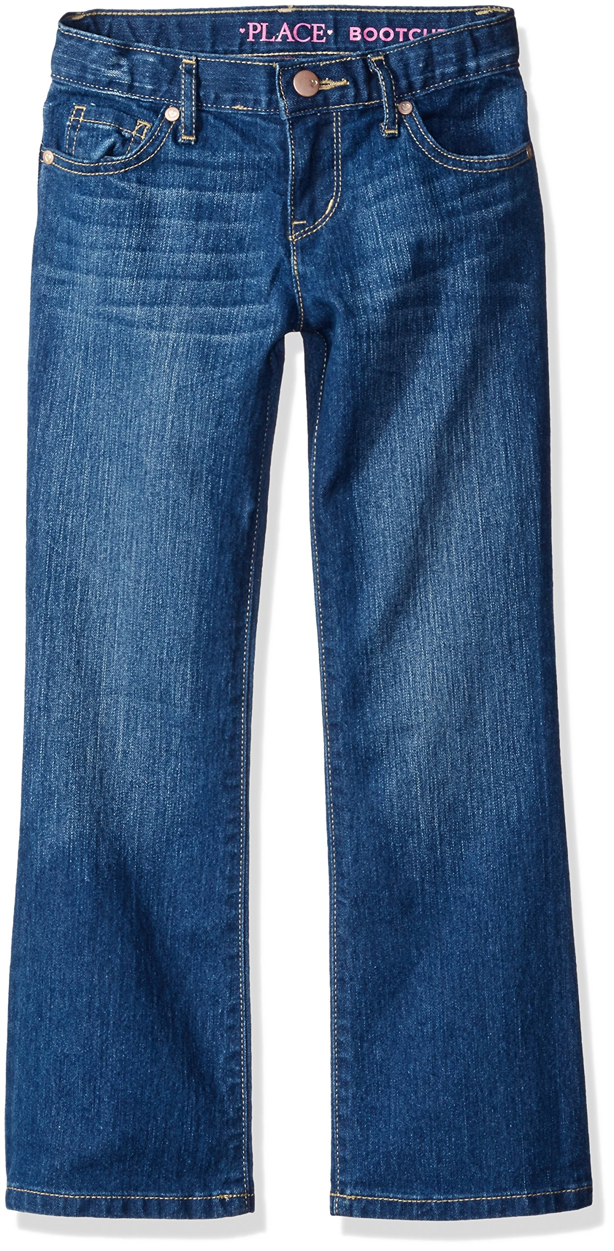 The Children's Place Little Girls' Bootcut Jeans, Indigo Stone, 6
