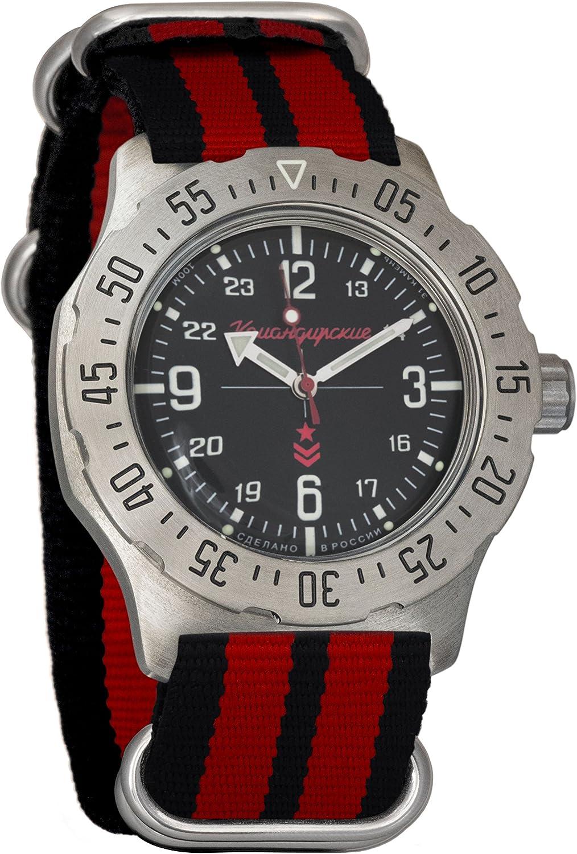Vostok Komandirskie K-35 Mechanical AUTO Self-Winding Mens Military Wrist Watch 350515