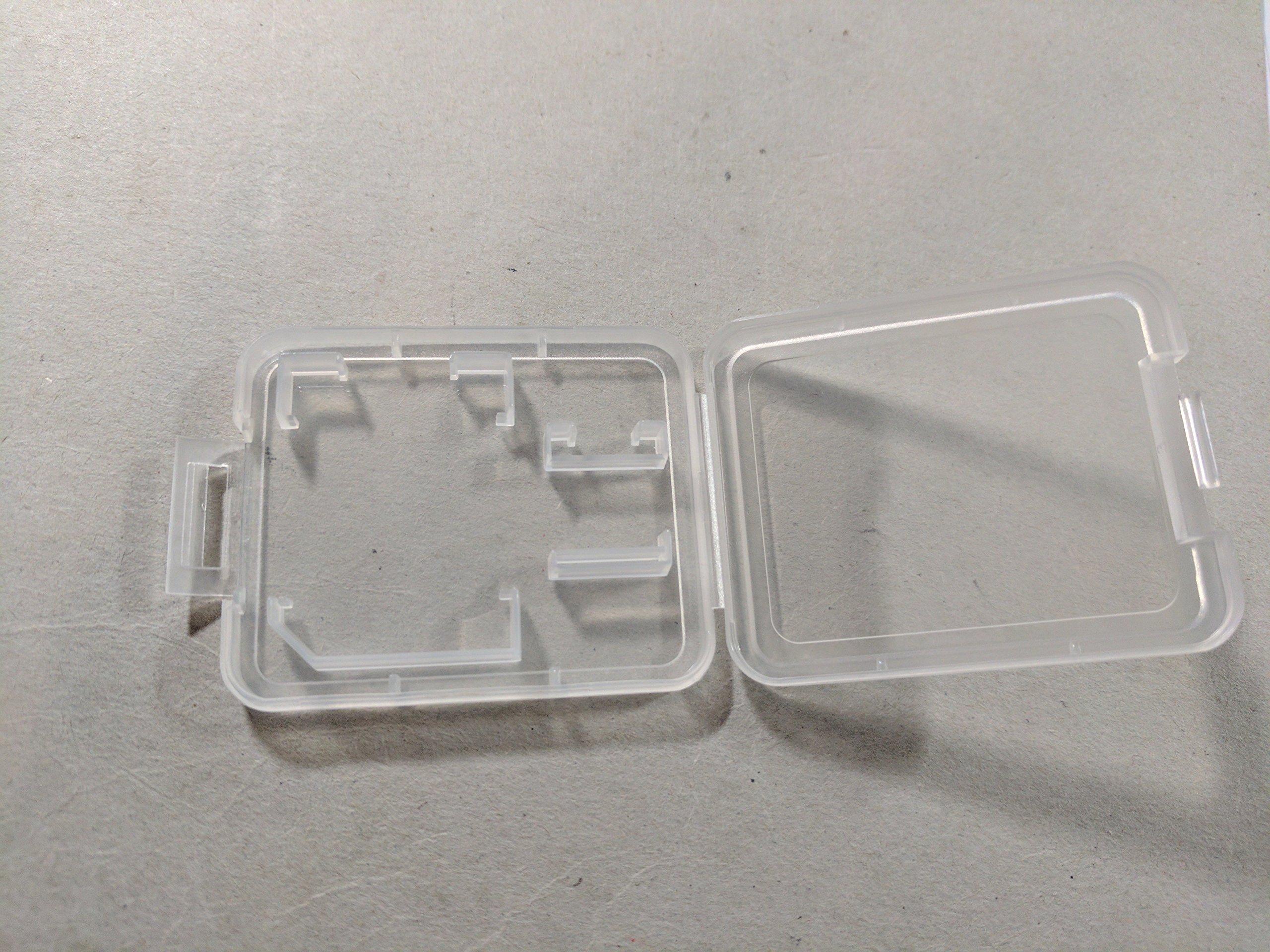 eTECH Collection 200 Pack of Clear Plastic SD/SDHC/SDXC/MicroSD/MicroSDHC/MicroSDXC Memory Card Case Holder for SanDisk/Kingston/Transcend/Samsung Memory Card (Case Only, Memory Card Not Included)