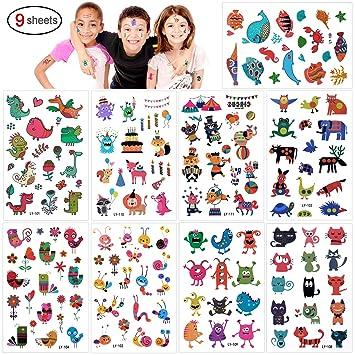 Tatuajes Temporales Para Niños Niñas Konsait 160pcs Dibujos