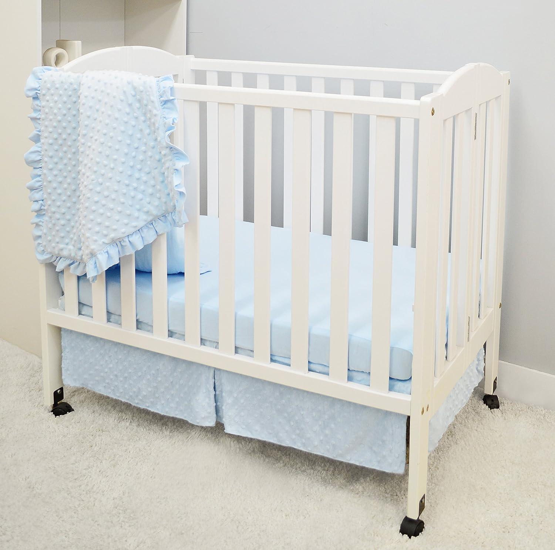 American Baby Company Heavenly Soft 6 Piece Crib Bedding Set Blue