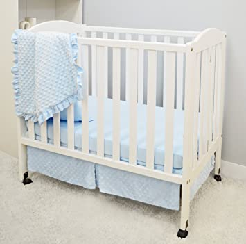 for Boys and Girls Blue American Baby Company Heavenly Soft Minky Dot Tailored Crib Skirt