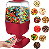 SHARPER IMAGE Motion Activated Candy Dispenser For Gumballs, Nuts, Snacks, Touchless Sensor Detector For Hands-Free Easy Fill Treat Canister For Kids, Adults, Battery Operated For Home/Office (Red)