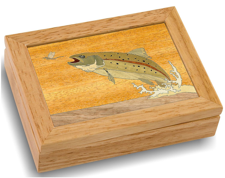 Amazon.com: Wood Art Trout Box - Handmade USA - Unmatched Quality ...