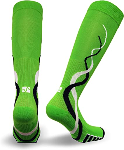Training Ladies Patented Graduated Compression Odor Resistant Running Recovery Socks Turquoise Vitalsox VTW0316 Race Day Large 1 pair Womens